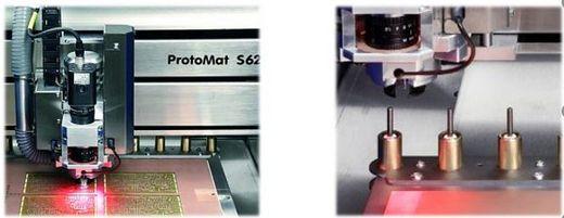 Gravure de circuits imprimés par fraisage LPKF réalisations